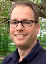 Michiel Huls, bestuurslid en coördinator van de Springertuin